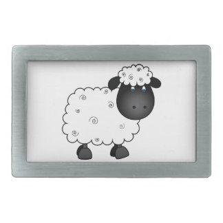 Baby Sheep For Ewe Rectangular Belt Buckles