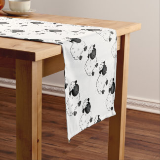 Baby Sheep For Ewe Short Table Runner