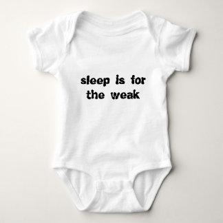 Baby shirt creeper SLEEP IS FOR THE WEAK