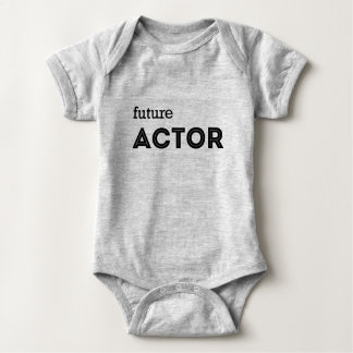 "BABY SHIRT HEATHER GREY ""FUTURE ACTOR"""