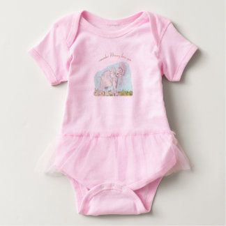 baby shirt  with tutu and elephant
