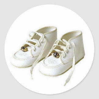 Baby Shoes Envelope Seal Round Sticker