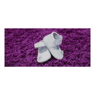 Baby shoes custom rack card