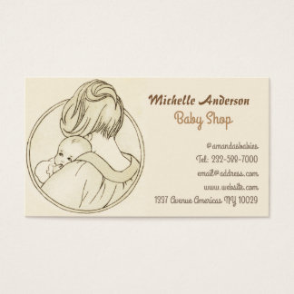 Baby shop and baby care business card