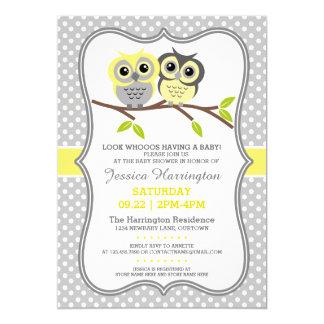 Baby shower adorable de hiboux carton d'invitation  12,7 cm x 17,78 cm