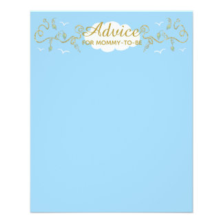 """Baby Shower Advice Card """"Castle in the Sky"""""""