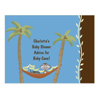 Baby Shower Advice Cards Monkey Around Blue/Brown