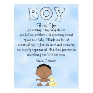 Baby Shower Baby Boy Ethnic Postcard