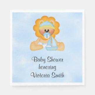Baby Shower Baby Boy Lion Napkin