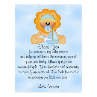 Baby Shower Baby Boy Lion Postcard