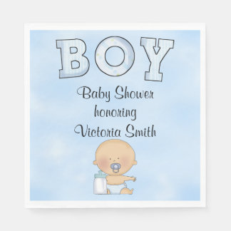 Baby Shower Baby Boy Paper Napkin