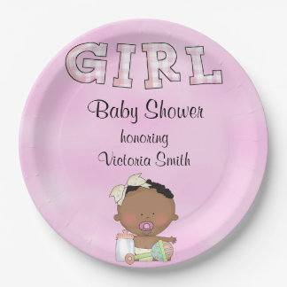 Baby Shower Baby Girl Ethnic Paper Plate