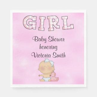 Baby Shower Baby Girl Paper Napkin