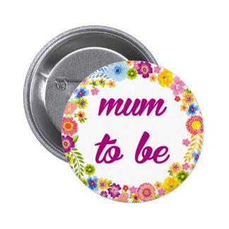 Baby Shower Badge - Mum to be 2 Inch Round Button