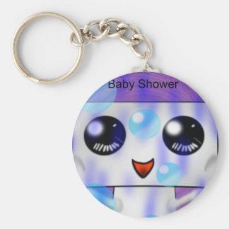 Baby Shower Basic Round Button Keychain