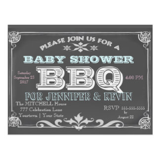 Baby Shower | BBQ | Chalkboard Postcard