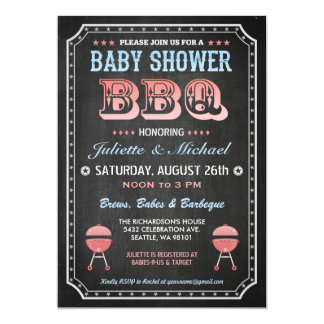Baby Shower BBQ Invitations (Chalkboard)