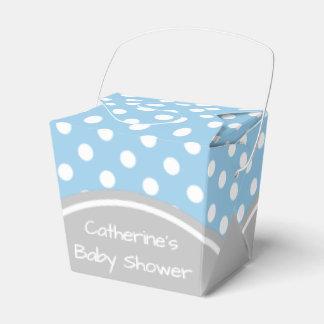 Baby Shower Blue and Grey Polka Dot Wedding Favor Box