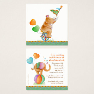 Baby shower book gifting cards animal circus art