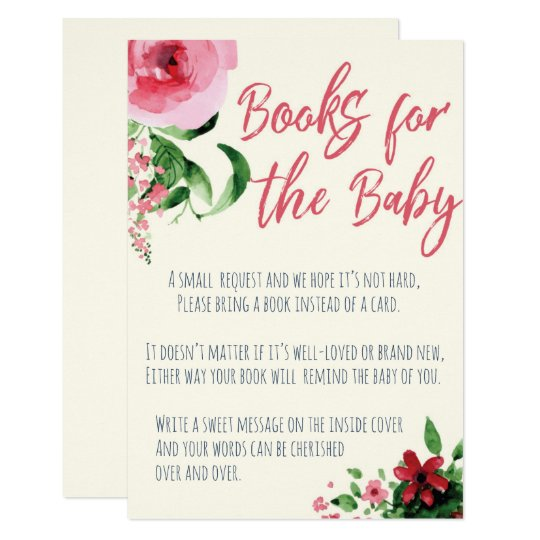 Baby Shower Books For The Baby Card