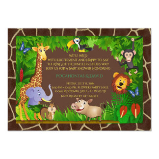 Baby Shower boy, jungle, modern, trendy, colorful Card