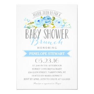 Baby Shower Brunch Blue | Baby Shower Invitation