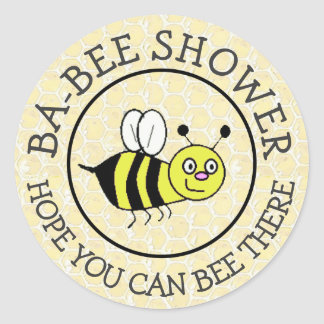 Baby Shower Bumble Bee Sticker
