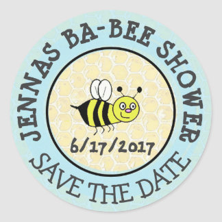 Baby Shower Bumble Bee Sticker Save the Date