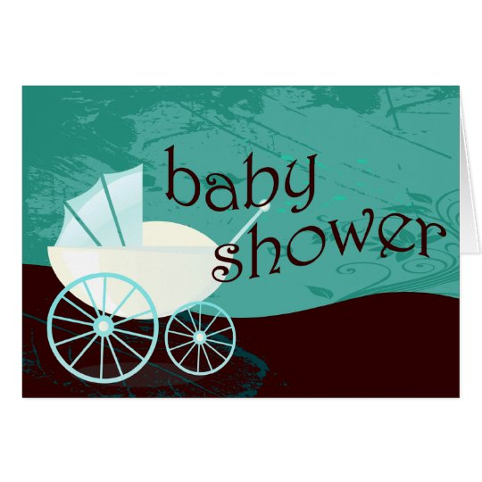 Baby Shower : carriage : Card