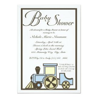 "Baby Shower Choo Choo Train 5"" X 7"" Invitation Card"