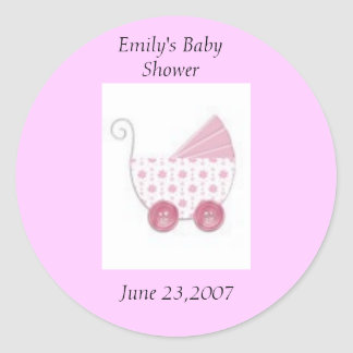 Baby shower classic round sticker