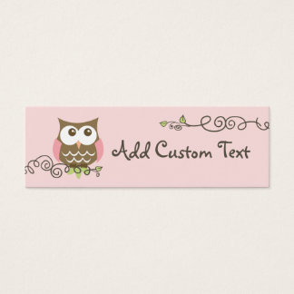 Baby shower custom owl tag