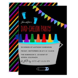 Baby Shower Dadchelor Beer Keg Party Card