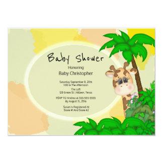 Baby shower de girafe carton d'invitation  13,97 cm x 19,05 cm