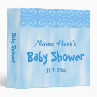 Baby Shower Design in Blue Vinyl Binders