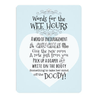 """Baby Shower Diaper Activity Card Sign 6.5"""" X 8.75"""" Invitation Card"""