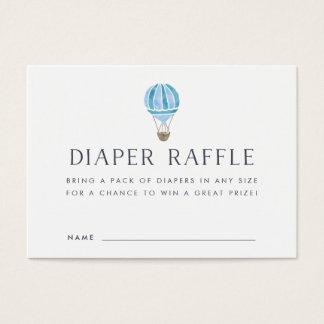 Baby Shower Diaper Raffle Cards | Blue Balloon