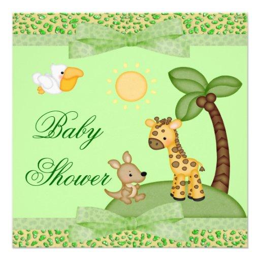 Baby shower d'impression de guépard d'animaux de s bristols