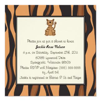 Baby shower d'impression de tigre carton d'invitation  13,33 cm