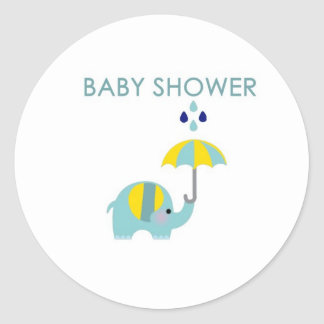 Baby Shower Elephant Sticker