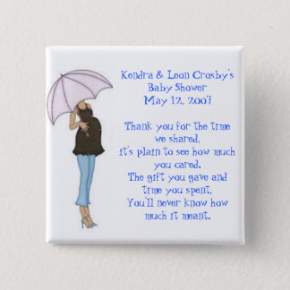 Baby Shower Favor 2 Inch Square Button