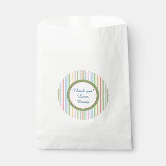 """Baby Shower Favor Bag """"PIcnic Stripes/Florals"""""""