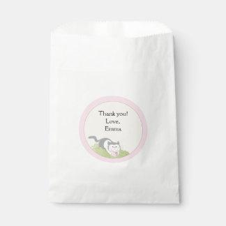 Baby Shower Favor Bag, Pink Build-a-Library Shower Favour Bag