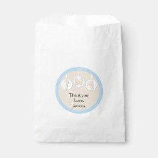 Baby Shower Favor Bag, Under the Sea, Cream/Blue Favour Bag