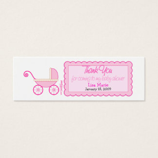 Baby Shower Favor Tag Mini Business Card