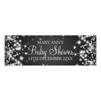 Baby Shower Favor Tag Winter Sparkle Black Pack Of Skinny Business Cards