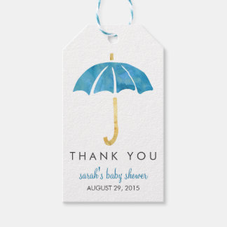 Baby Shower Favor Tags | Blue Umbrella