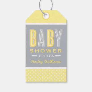 Baby Shower Favor Tags | Yellow and Gray