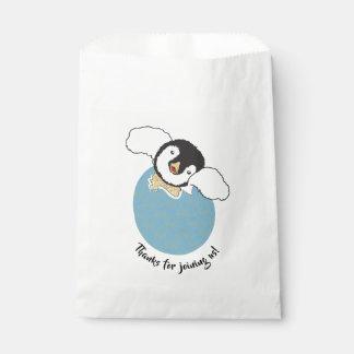 Baby Shower Favour Bag, Blue, Baby Penguin Favour Bag