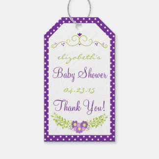 Baby Shower Floral Lavender Wreath Pack Of Gift Tags